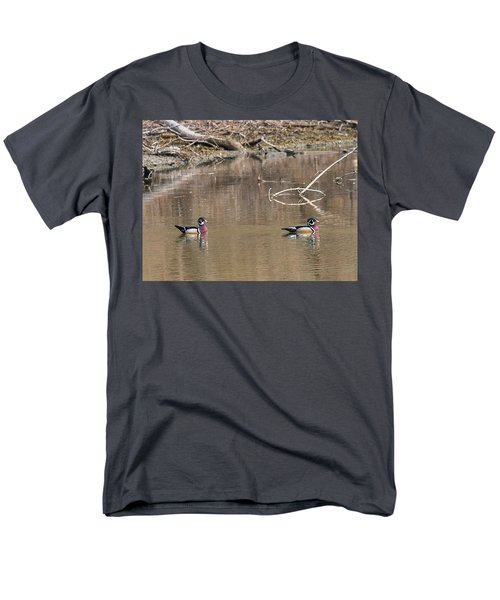 Men's T-Shirt  (Regular Fit) featuring the photograph Male Wood Ducks by Edward Peterson