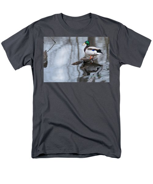 Men's T-Shirt  (Regular Fit) featuring the photograph Mallard Drake by Edward Peterson