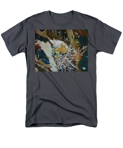 Men's T-Shirt  (Regular Fit) featuring the painting Mama And Babies by Julie Todd-Cundiff
