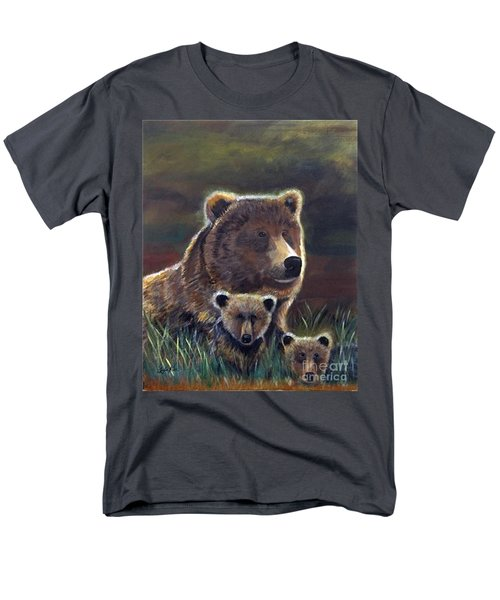 Men's T-Shirt  (Regular Fit) featuring the painting Mammas Warmth by Leslie Allen