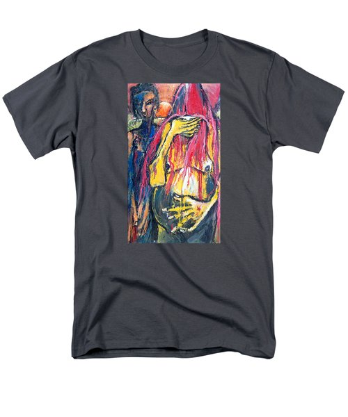 Men's T-Shirt  (Regular Fit) featuring the painting Man And Woman Pregnant by Kenneth Agnello