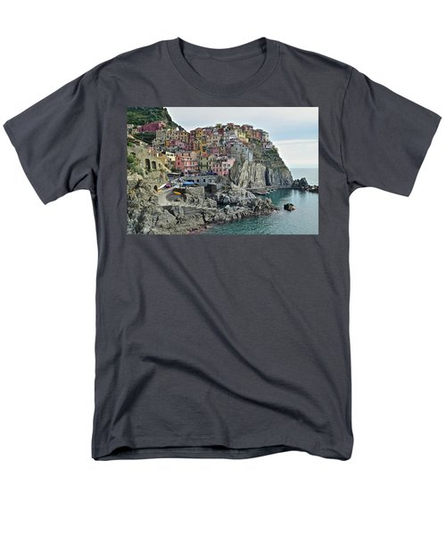 Men's T-Shirt  (Regular Fit) featuring the photograph Manarola Version Three by Frozen in Time Fine Art Photography