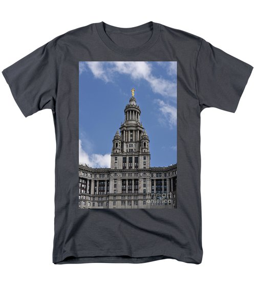 Men's T-Shirt  (Regular Fit) featuring the photograph Manhattan City Hall by Judy Wolinsky