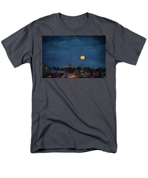 Manhattan Moonrise Men's T-Shirt  (Regular Fit) by Chris Lord