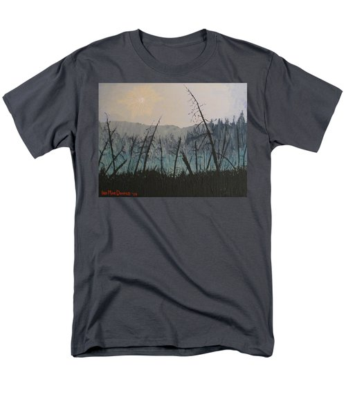 Men's T-Shirt  (Regular Fit) featuring the painting Manitoulin Beaver Meadow by Ian  MacDonald
