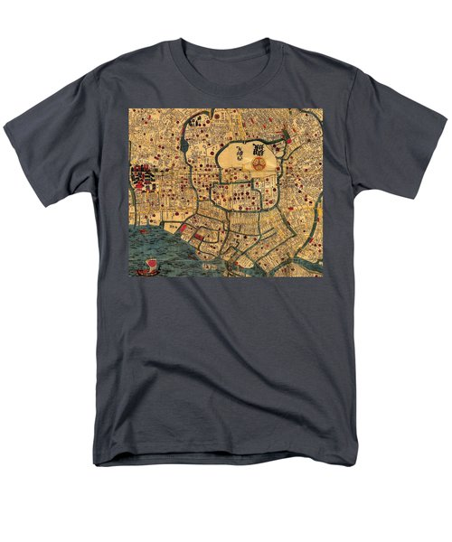 Map Of Tokyo 1845 Men's T-Shirt  (Regular Fit) by Andrew Fare