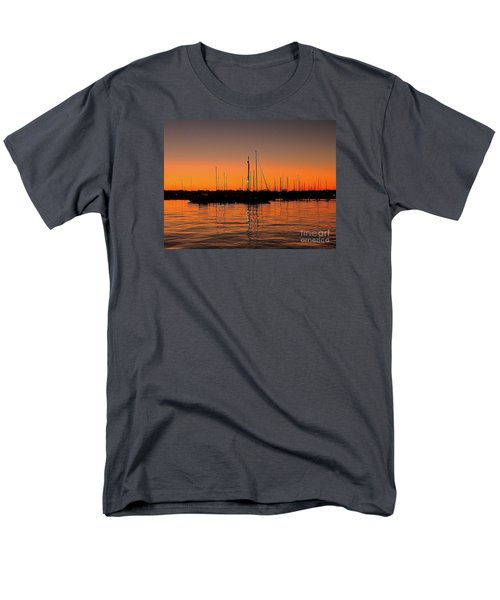 Men's T-Shirt  (Regular Fit) featuring the photograph Marina Moonlight Masts by Shelia Kempf