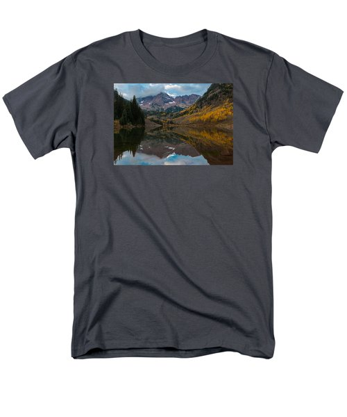 Maroon Bells Men's T-Shirt  (Regular Fit) by Gary Lengyel