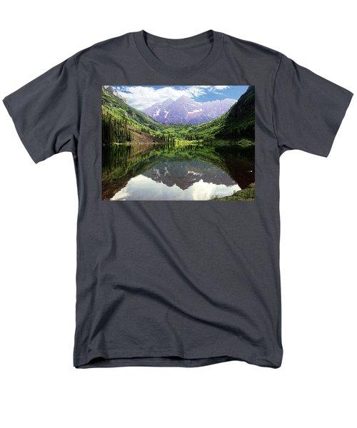 Maroon Bells  Men's T-Shirt  (Regular Fit) by Jerry Battle