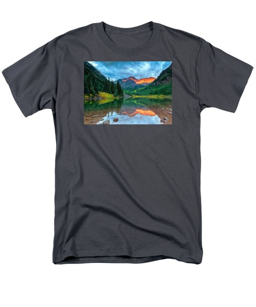 Maroon Bells Sunrise Men's T-Shirt  (Regular Fit) by John Vose