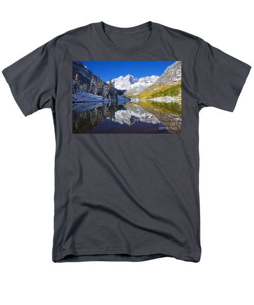 Maroon Lake And Bells 1 Men's T-Shirt  (Regular Fit) by Ron Dahlquist - Printscapes