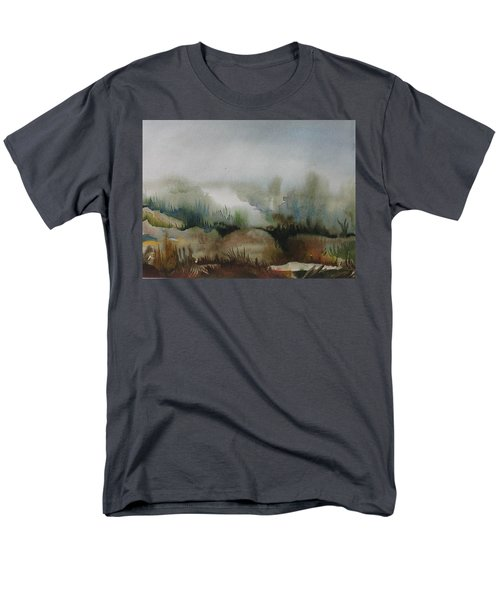 Men's T-Shirt  (Regular Fit) featuring the painting Marsh by Anna  Duyunova