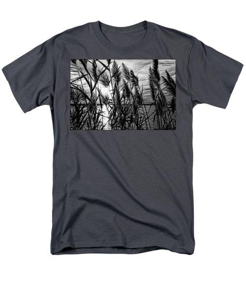 Marsh Grass Bw Men's T-Shirt  (Regular Fit) by John Loreaux