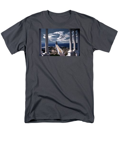 Marshall Point Lighthouse Maine Men's T-Shirt  (Regular Fit) by Skip Willits
