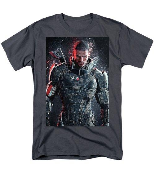 Men's T-Shirt  (Regular Fit) featuring the digital art Mass Effect by Taylan Apukovska