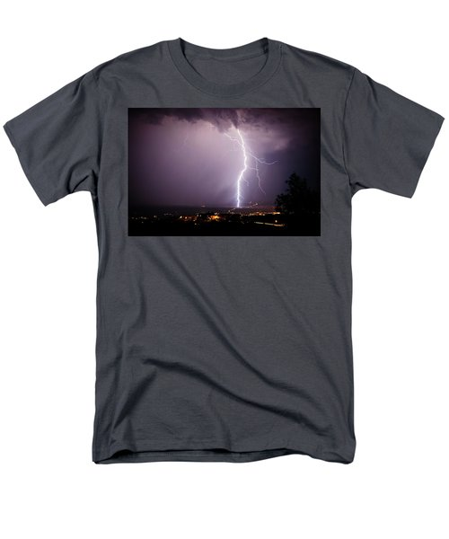 Massive Lightning Storm Men's T-Shirt  (Regular Fit) by Ron Chilston