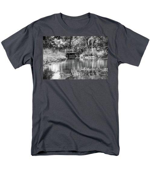 Matthaei Botanical Gardens Black And White Men's T-Shirt  (Regular Fit) by Pat Cook