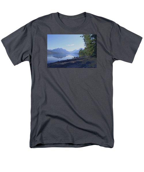 Men's T-Shirt  (Regular Fit) featuring the photograph Mcdonald Lake by Susan Crossman Buscho