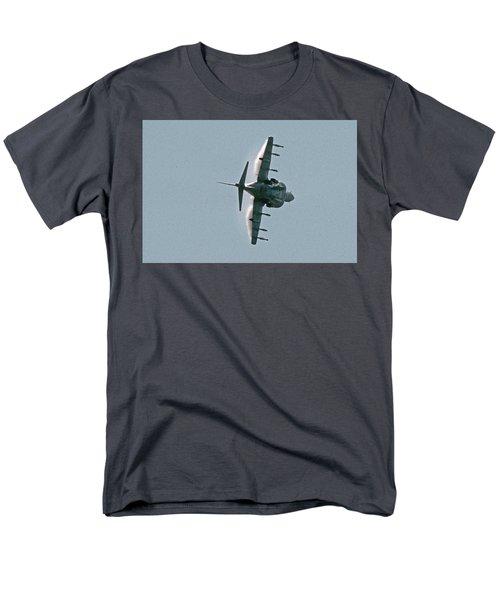 Mcdonnell-douglas Av-8b Harrier Buno 164119 Of Vma-211 Turning Mcas Miramar October 18 2003 Men's T-Shirt  (Regular Fit) by Brian Lockett