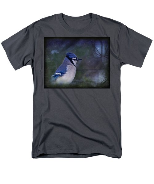 Me Minus You - Blue Men's T-Shirt  (Regular Fit) by Evelina Kremsdorf