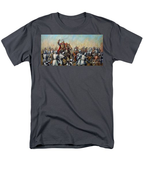 Medieval Battle Men's T-Shirt  (Regular Fit) by Arturas Slapsys