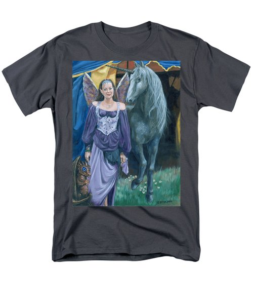 Men's T-Shirt  (Regular Fit) featuring the painting Medieval Fantasy by Bryan Bustard