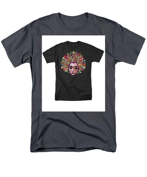 Men's T-Shirt  (Regular Fit) featuring the digital art Medusa Bedazzled Tee by R  Allen Swezey