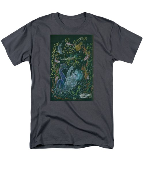 Men's T-Shirt  (Regular Fit) featuring the drawing Merbaby Blue by Dawn Fairies
