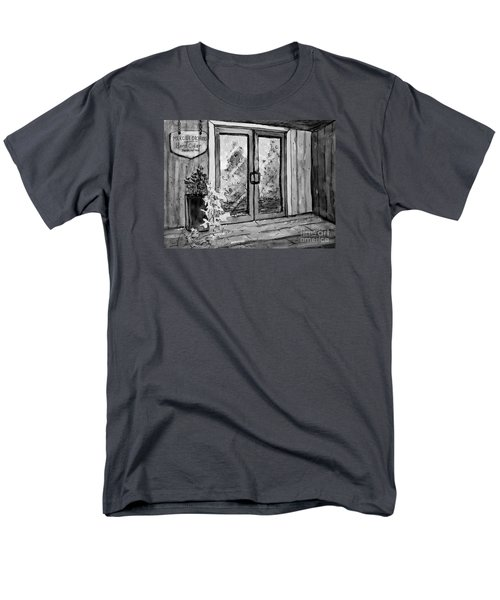 Men's T-Shirt  (Regular Fit) featuring the painting Mercier Orchard's Cider In Bw by Gretchen Allen