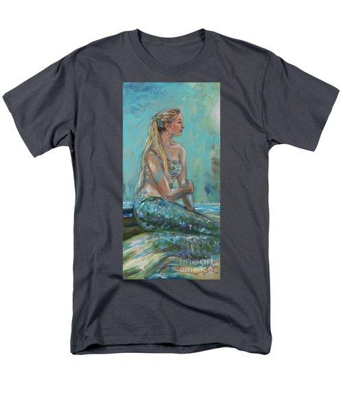 Mermaid Sunning On Shore Men's T-Shirt  (Regular Fit)