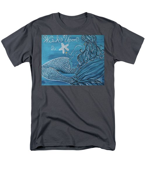 Mermaid- Wish Upon A Starfish Men's T-Shirt  (Regular Fit) by Megan Cohen
