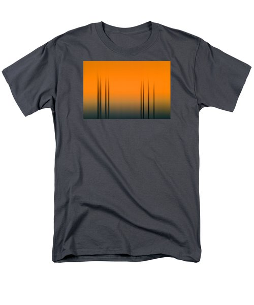 Merritt Island Sunset Digital Abstracts Motion Blur  Men's T-Shirt  (Regular Fit) by Rich Franco