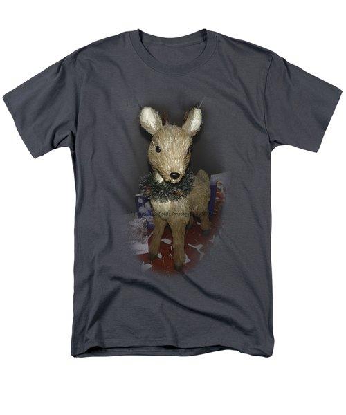 Merry Christmas Deer Men's T-Shirt  (Regular Fit) by Judy Hall-Folde