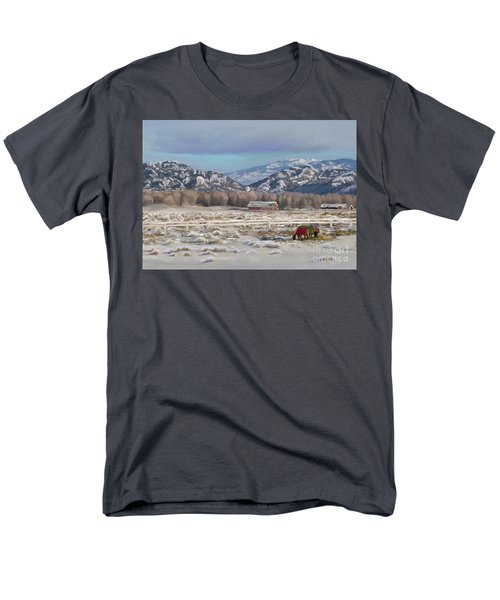 Merry Christmas From Wyoming Men's T-Shirt  (Regular Fit) by Dawn Senior-Trask