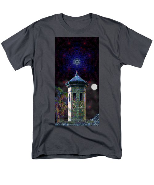 Men's T-Shirt  (Regular Fit) featuring the digital art Metatron Nocturnal by Iowan Stone-Flowers