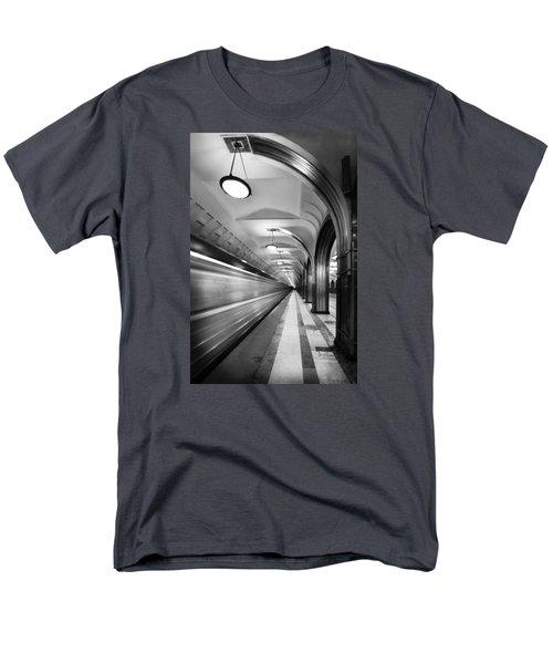 Metro #5147 Men's T-Shirt  (Regular Fit) by Andrey Godyaykin