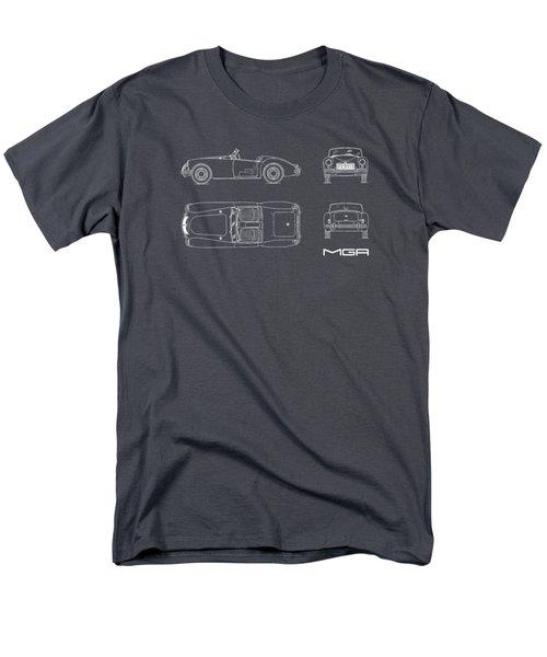 Mga Mk1 Blueprint - Red Men's T-Shirt  (Regular Fit)