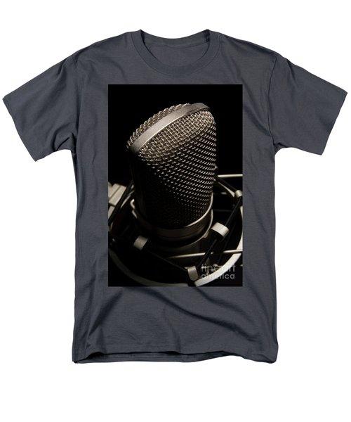 Mic Men's T-Shirt  (Regular Fit) by Brian Jones