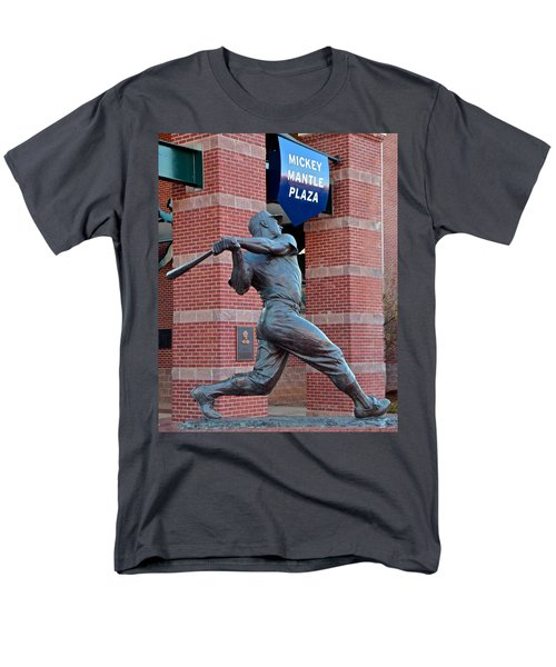Mickey Mantle Men's T-Shirt  (Regular Fit) by Frozen in Time Fine Art Photography