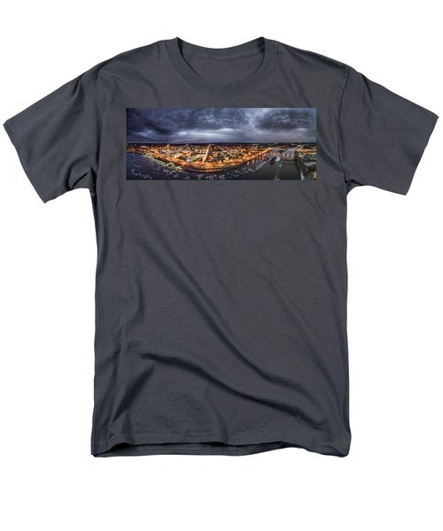 Middletown Connecticut, Twilight Panorama Men's T-Shirt  (Regular Fit) by Petr Hejl