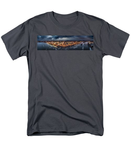 Middletown Ct, Twilight Panorama Men's T-Shirt  (Regular Fit) by Petr Hejl