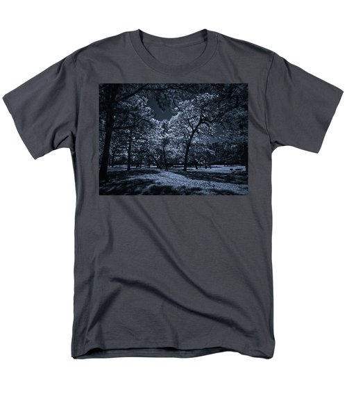 Men's T-Shirt  (Regular Fit) featuring the photograph Midnight Blues by Linda Unger