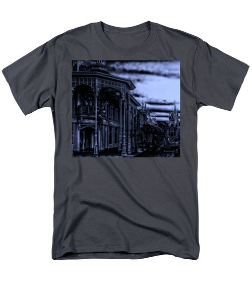 Midnight On Main Street Disney World Mp Men's T-Shirt  (Regular Fit) by Thomas Woolworth