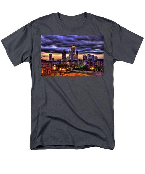 Midtown Atlanta Towers Over Atlantic Commons Men's T-Shirt  (Regular Fit) by Reid Callaway