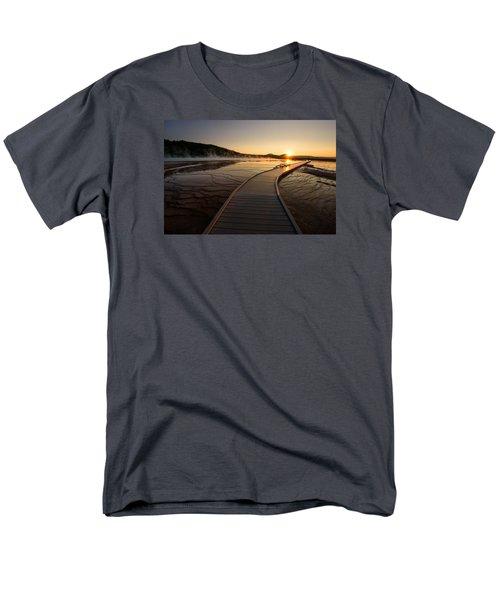 Men's T-Shirt  (Regular Fit) featuring the photograph Midway Basin Sunset by Dan Mihai