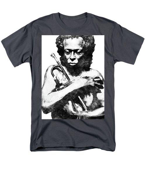 Miles Davis Bw  Men's T-Shirt  (Regular Fit) by Mihaela Pater