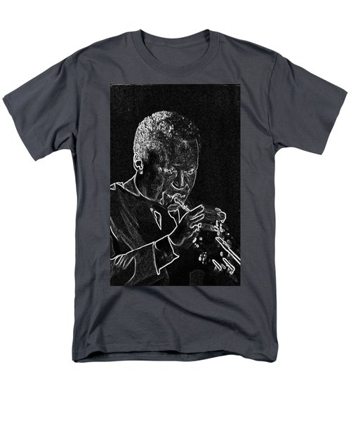 Men's T-Shirt  (Regular Fit) featuring the mixed media Miles Davis by Charles Shoup