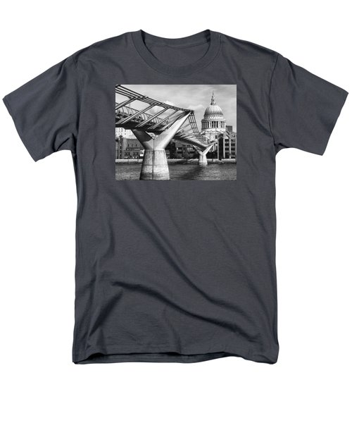 Men's T-Shirt  (Regular Fit) featuring the photograph Millennium Footbridge by Shirley Mitchell