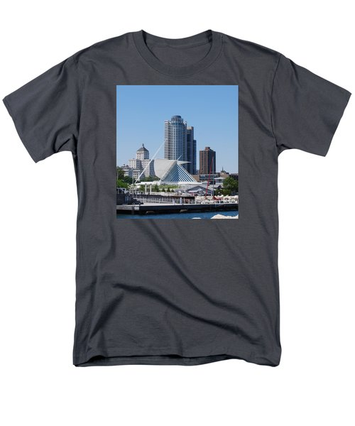 Men's T-Shirt  (Regular Fit) featuring the photograph Milwaukee, Wi Shoreline by Ramona Whiteaker