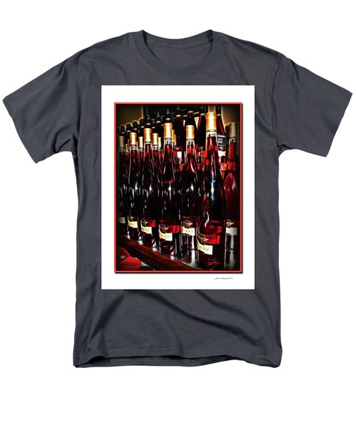 Men's T-Shirt  (Regular Fit) featuring the photograph Miner Pink Sparkling Wine by Joan  Minchak
